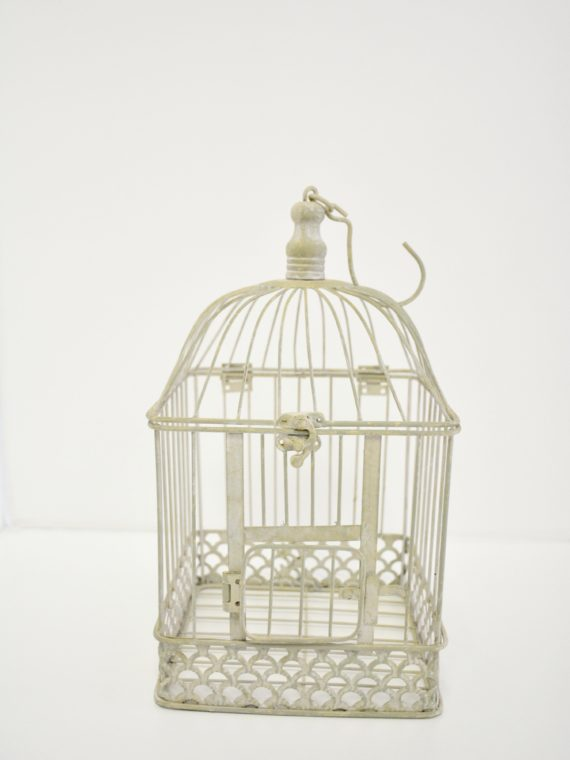 Antique White Bird Cage