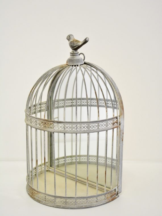 Half Moon Mirrored Bird Cage