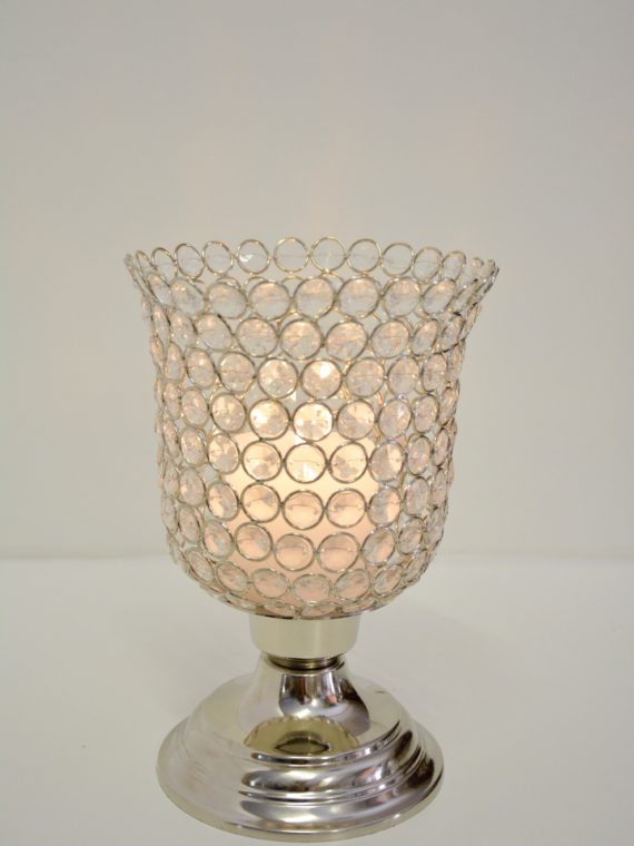 Beaded Candle Holder Footed