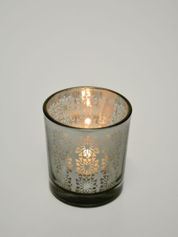 Black and Silver Votive