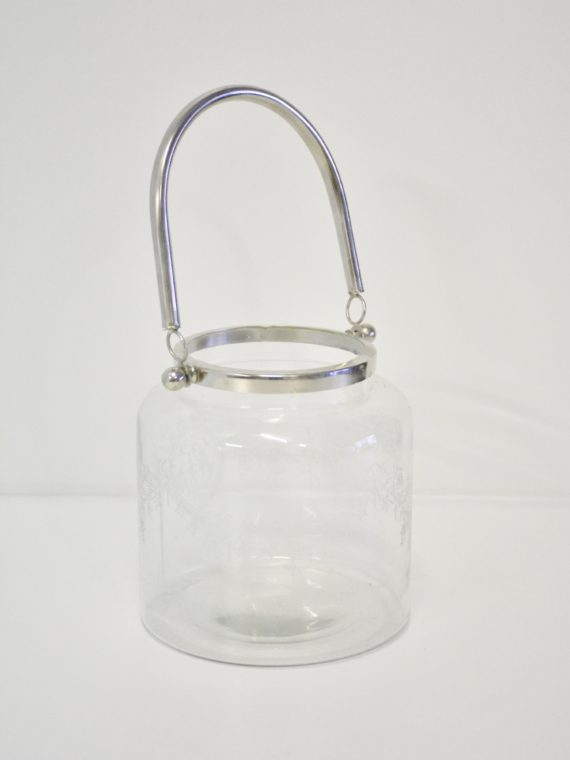 Glass Lantern with Silver