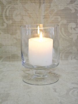 Glass Candle Holder Footed