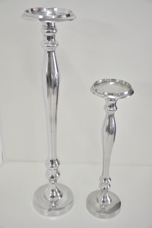 Silver Candle Stick Slim Tall